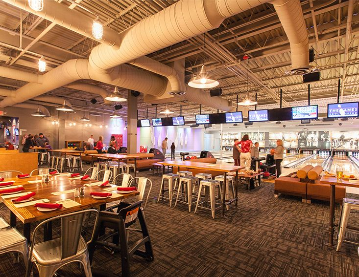 Project The Lanes Bowl Bistro Mashpee MA Product Transparent Tile By Shaw Contract Group Design Firm G Green Center