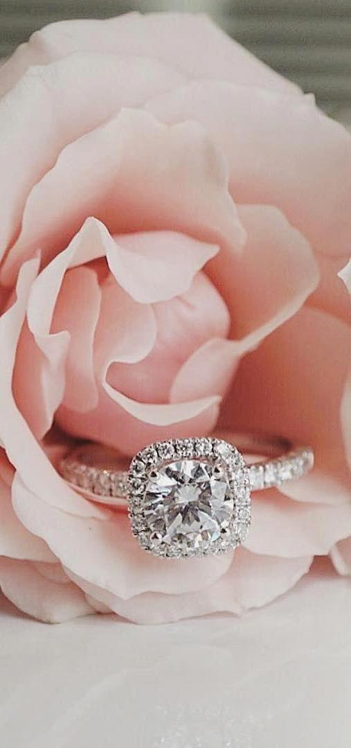 Elegant classic white gold halo engagement ring | #RingoftheWeek: MR2132 by Simo…