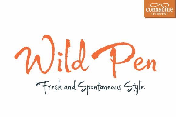 Wild Pen (Five fonts) by Corradine Fonts on Creative Market