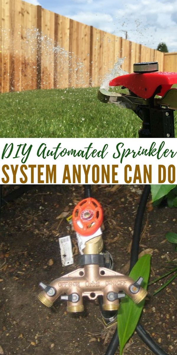 DIY Automated Sprinkler System Anyone Can Do - Having a professional install a sprinkler system costs thousands of dollars and that is just not feasible for me. I went hunting for a DIY tutorial that was easy and cheap, I found just that with this article I am sharing with you today.