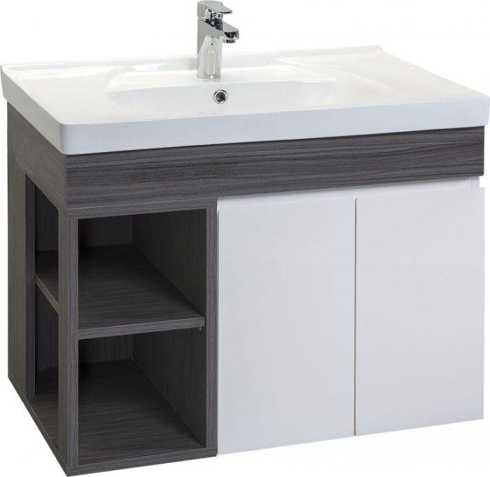 《101衛浴精品》Corins 柯林斯 80cm 風格-復古洗灰 陶瓷面盆 浴櫃組 ST-L-80K【免運費】01