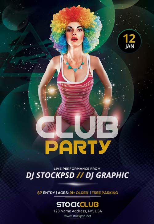 Club Party Night Free PSD Flyer Template - http://freepsdflyer.com/club-party-night-free-psd-flyer-template/ Enjoy downloading the Club Party Night Free PSD Flyer Template created by Stockpsd! #Club, #Concert, #Dance, #Dj, #EDM, #Electro, #Gig, #Live, #Music, #Nightclub, #Party, #Sound