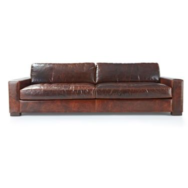"""Signature Leather 108"""" Sofa - JCPenney"""