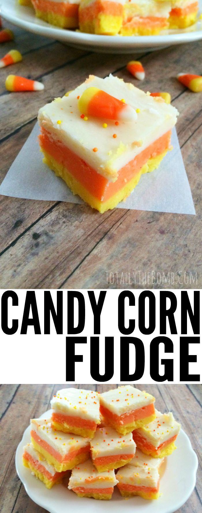 candy corn fudge                                                                                                                                                     More