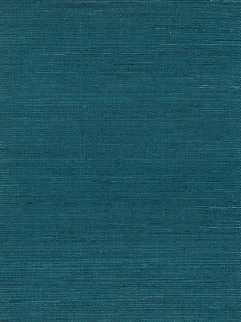 Gorgeous dark teal grasscloth.