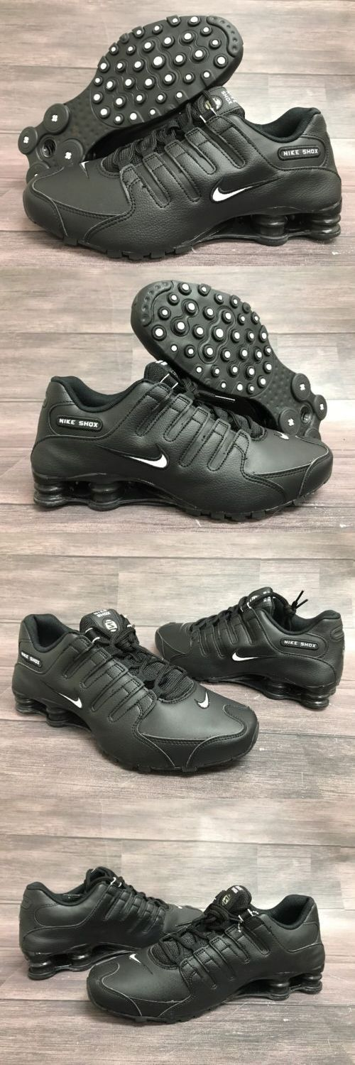 Athletic 15709: Nike Shox Nz Eu Men S Shoes Black Leather Size 9 Running Training -> BUY IT NOW ONLY: $79.95 on eBay!