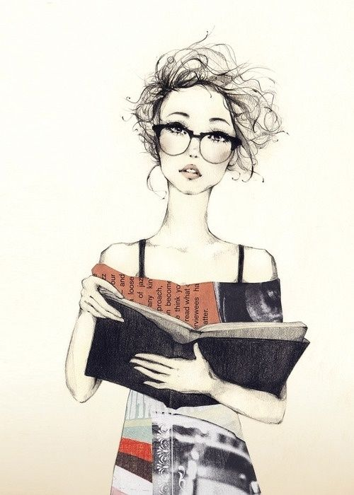 Drawing - Casual Girl Book Glasses | My Style | Pinterest | Girls Glasses And Casual