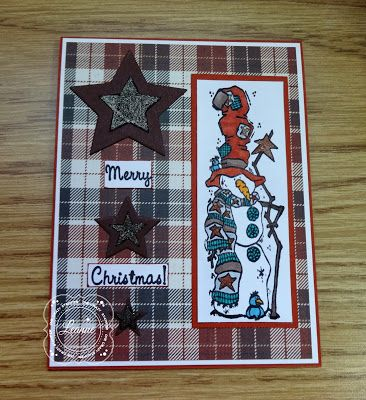 ONECRAZYSTAMPER.COM: One Crazy Stamper-Country Snowman by Leanne using High Hopes Stamps