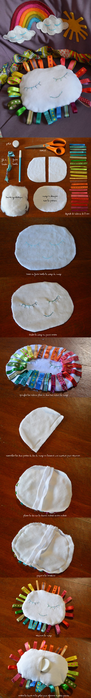 Rainbow week day 5 : DIY le doudou nuage (concours inside) « Blisscocotte
