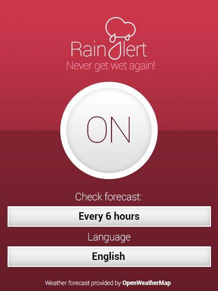 Primer disseny d'una #APP que preveu la pluja i quan plou. #rainAlert #weather #rain #design #disseny #diseño #alert