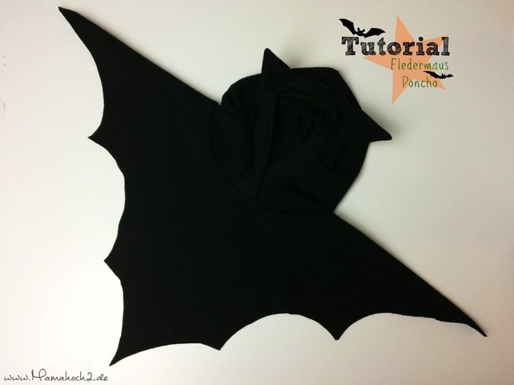 Tutorial | Fledermausponcho – perfekt für Halloween