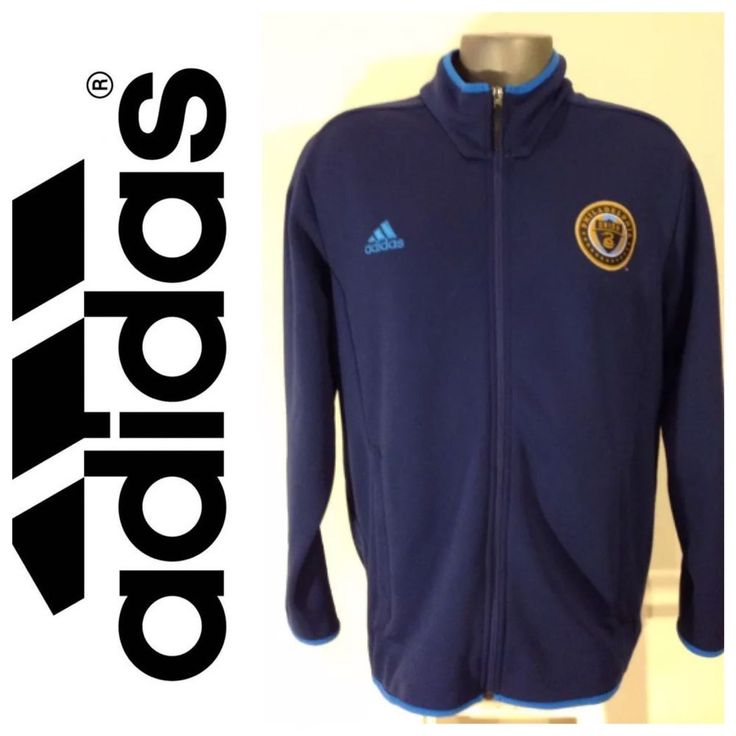 New Adidas Philadelphia Union Track Jacket Sweatshirt Navy Soccer XL $90 NWOT #adidas #Track