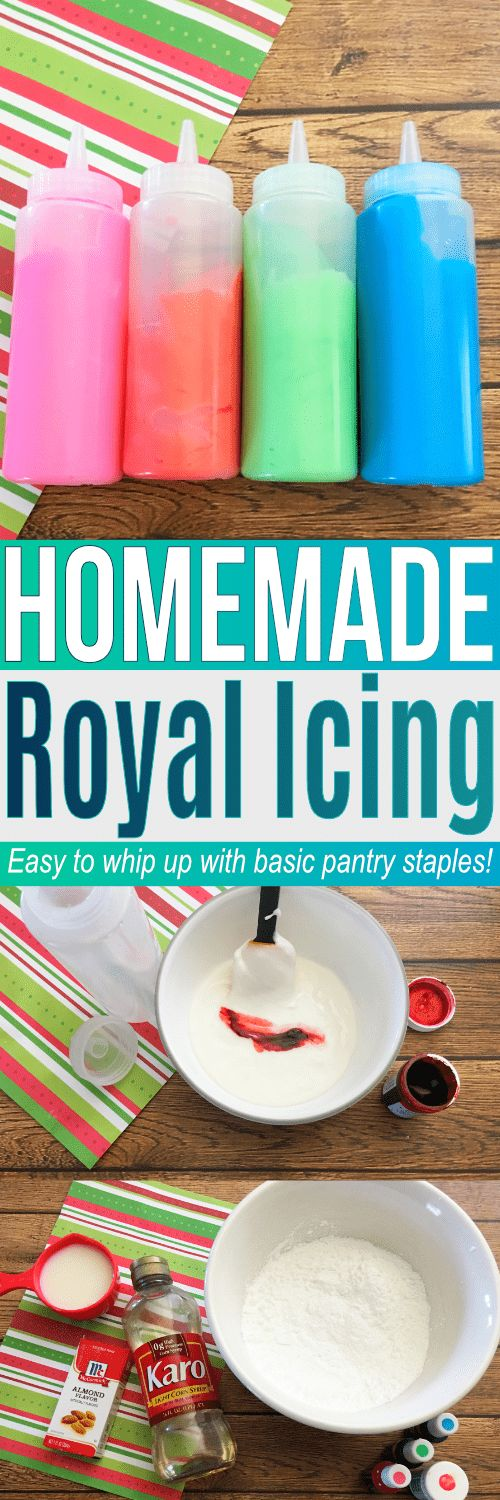 Learn how to make icing with this easy recipe for Royal Icing. Great to use with our sugar cookie recipe. Find all the ingredients to make both in your pantry! #SugarSweet