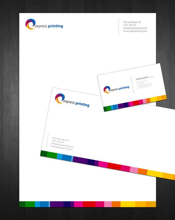 express printing letterhead design inspiration