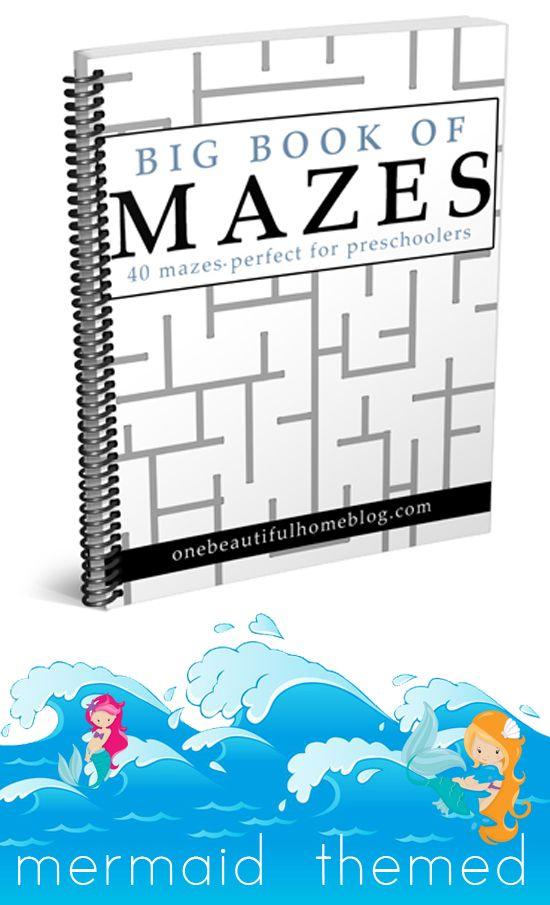 Preschool Mazes - Mermaid Themed