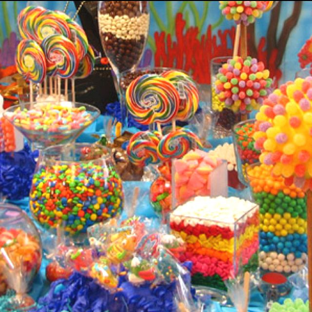 Candy bar...great idea for wedding/baby showers; weddings; parties in general...