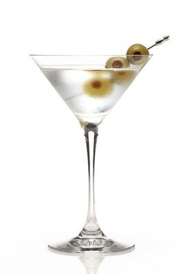 Dry vodka martini with three olives - yes please.