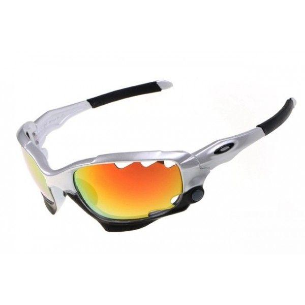Oakley Racing Jacket sunglasses gray / fire iridium