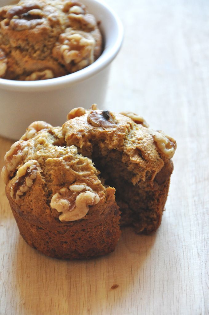 Vegan Banana Nut Muffins for Two! - For when you only have one banana lying around. This recipe was perfect with the addition of some cinnamon.
