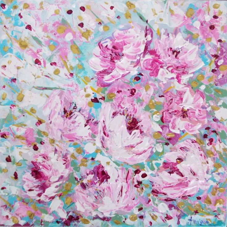 Buy Pink Floral, Acrylic painting by Antigoni Tziora on Artfinder. Discover thousands of other original paintings, prints, sculptures and photography from independent artists.