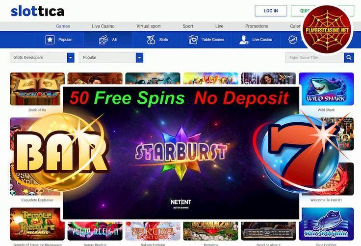 Slottica Casino (New Review 2020) Get 50FS in Starburst