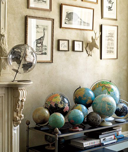 This is such a great idea- my husband and I LOVE globes....its a reminder of how big our world is and how much there is to see. We have begun our collection!!