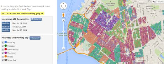 the new york once a week parking map in new york a lot the