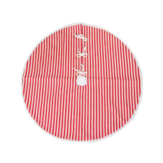 Shop for the Red & White Striped Tree Skirt by Ashland® at Michaels   Tree skirts, White ...