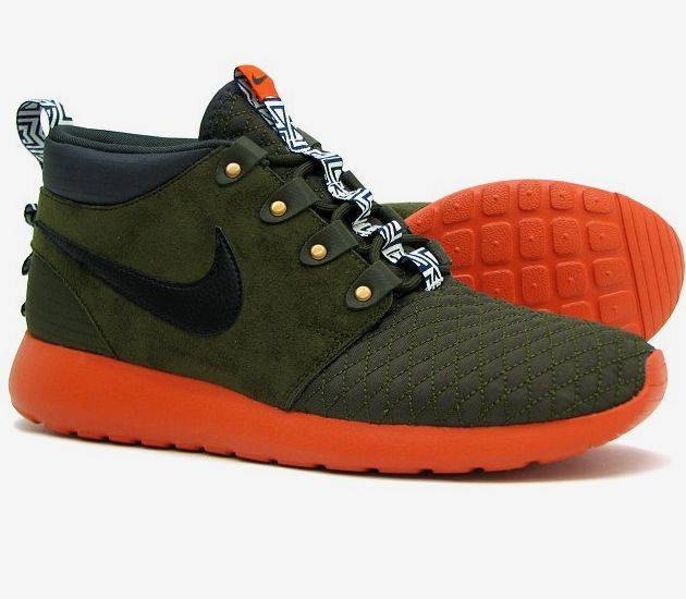 Nike Roshe Run Mid – Dark Loden / Orange