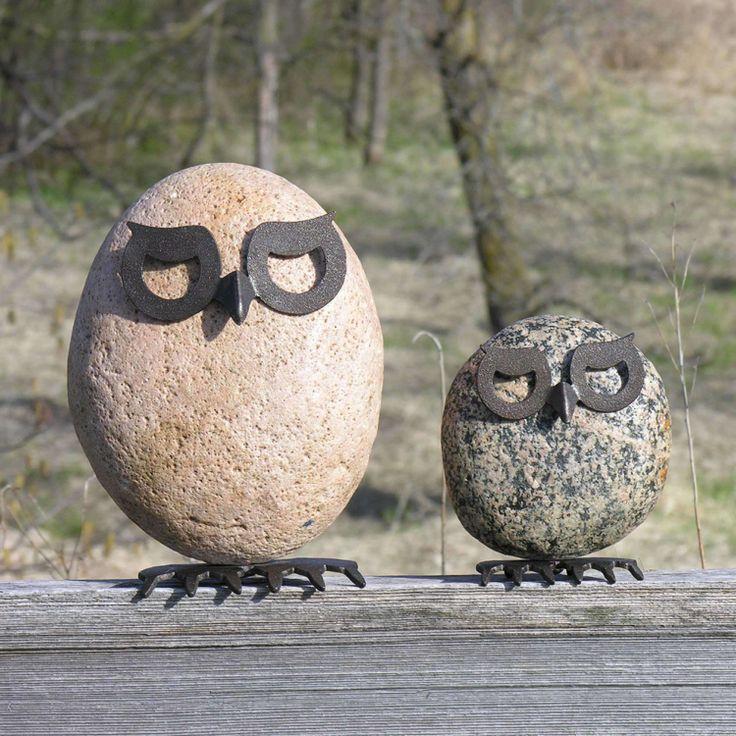 Fantasievolle gartendeko tiere aus metall und stein art for Gartendeko aus stein und metall