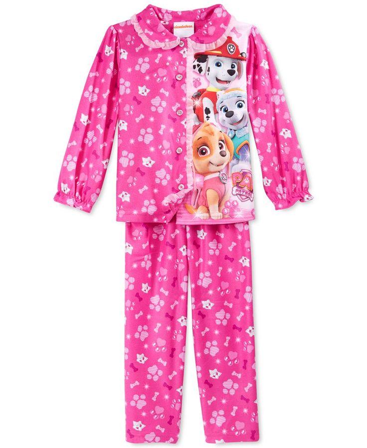 Ame Toddler Girls' 2-Piece Button-Down Paw Patrol Pajamas