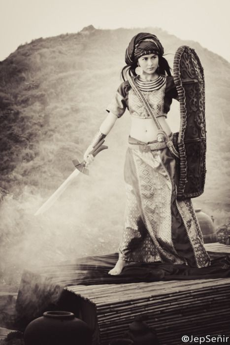 """""""While women in precolonial Philippines were often designated to the venerable position of the babaylan, it was not an uncommon occurrence for them to pick up arms and become warriors."""" - from the article:  The Filipina as Ritualist and Warrior By Perry Gil S. Mallari  Image: Filipina actor, Marian Rivera as the Visayan warrior, Amaya welding her sword for justice. Watch free episodes of """"Amaya""""online  Come learn with us. - Kapwa Collective  Blog: kapwacollective.tumblr.comFacebook:"""