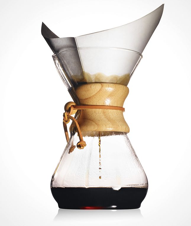 Beloved by snobs and design fanatics alike, the Chemex is coffee-making at its simplest--and finest