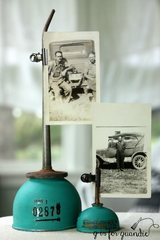 I'm fondof old oil cans, is that weird? I picked up a couple of them at garage sales this summer. Although they were OK as is, I kept thinking about this fantastic bright blue oil can that I…