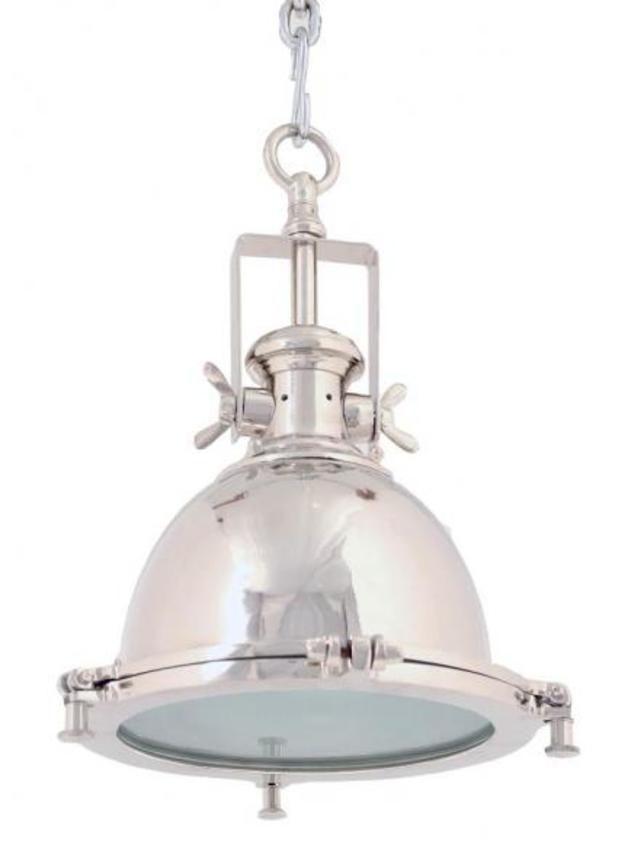 Lampa wisząca, niklowana, loft, industrialna