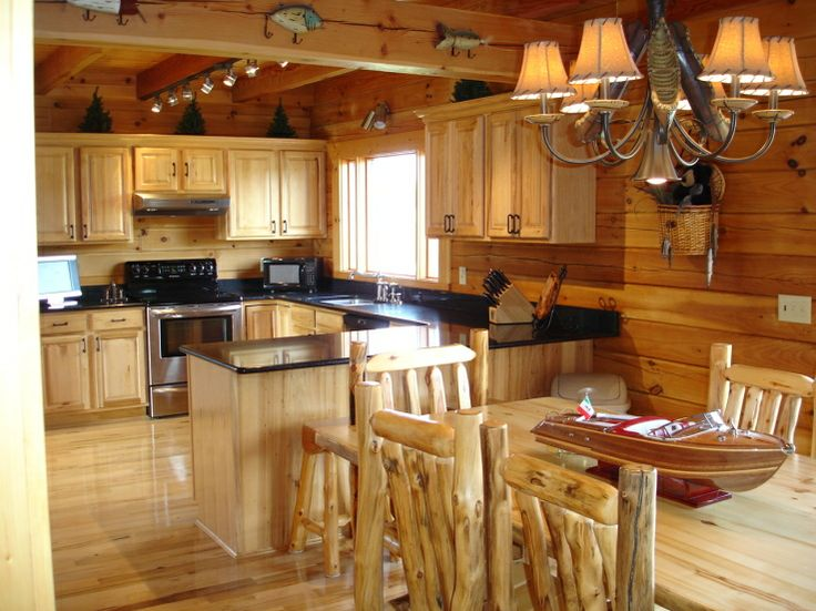 16 best images about knotty pine cabinets kitchen on pinterest for Cabin kitchen cabinets