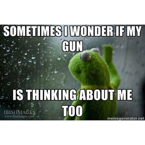 I wonder if my gun thinks about me too.. ❤️