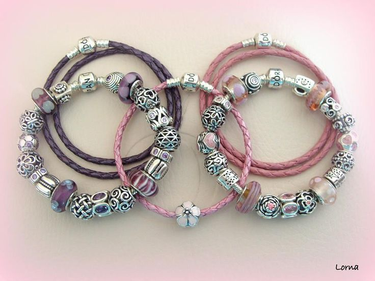 beautiful pink and purple pandora bracelets thanks for. Black Bedroom Furniture Sets. Home Design Ideas