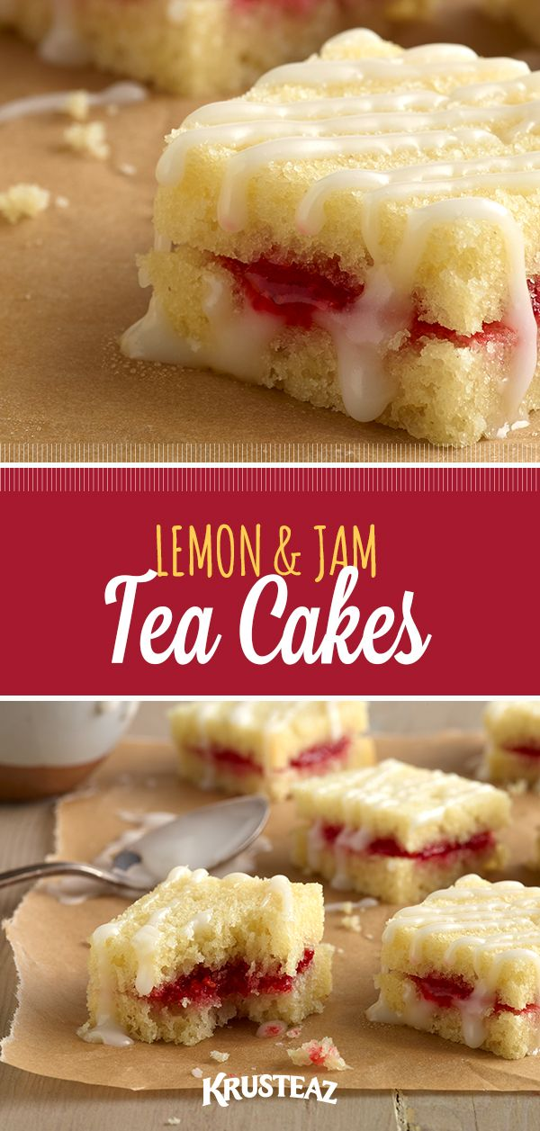 Made with Krusteaz Meyer Lemon Poundcake mix, jam and love! Your turn to try :)