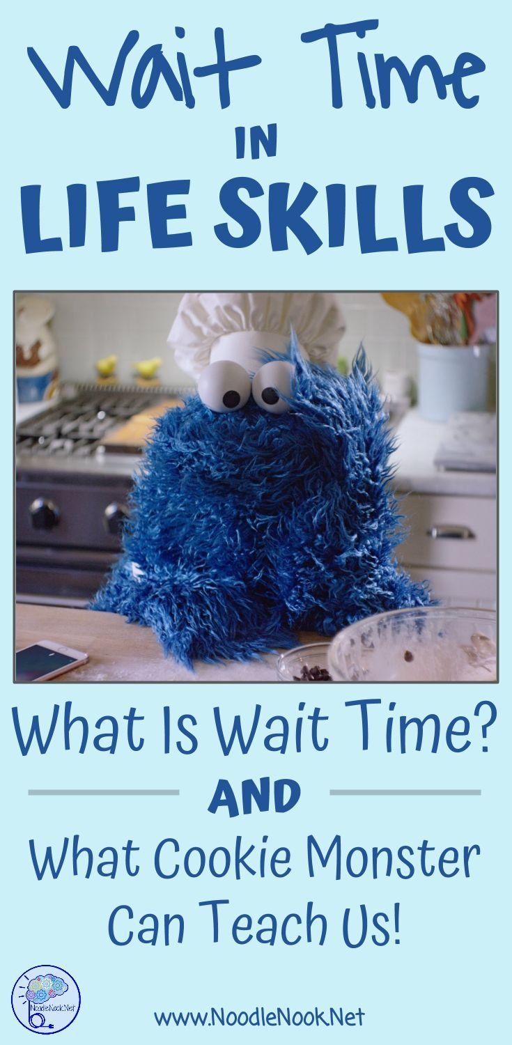 Wait Time in LIFE Skills- What it is and a funny video from Cookie Monster that explains it all!