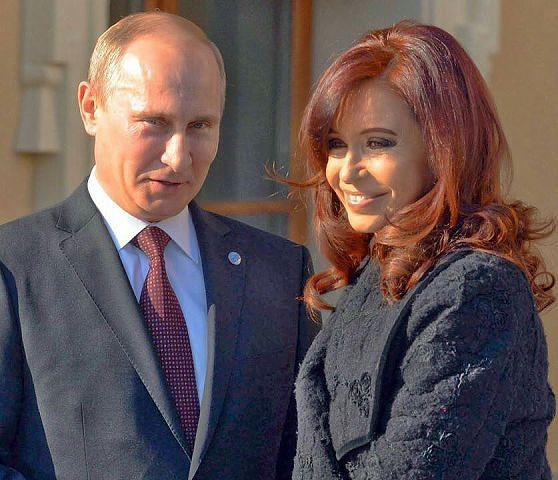 Putin y Cristina Fernandez de Kirchner (Presidenta de Argentina)