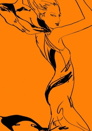 Jason Brooks  a vector of a woman  quite simple and somethin that iould b able to do in photoshop/illustrator