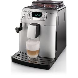 Saeco Automatic Espresso Machine, Black, Stainless Steel, Plastic, Stainless Steel, Coffee Beans, Automatic, Cappuccino, Espresso
