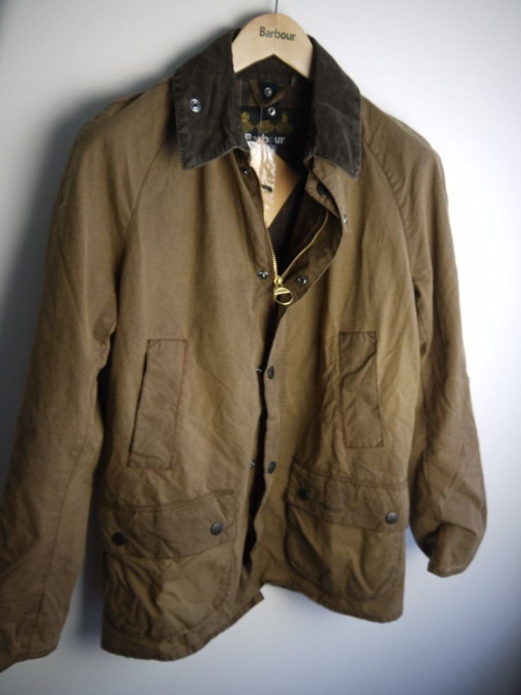 Barbour Men's Ashby Washed Wax Jacket, Brown, New With Tags, Large | eBay
