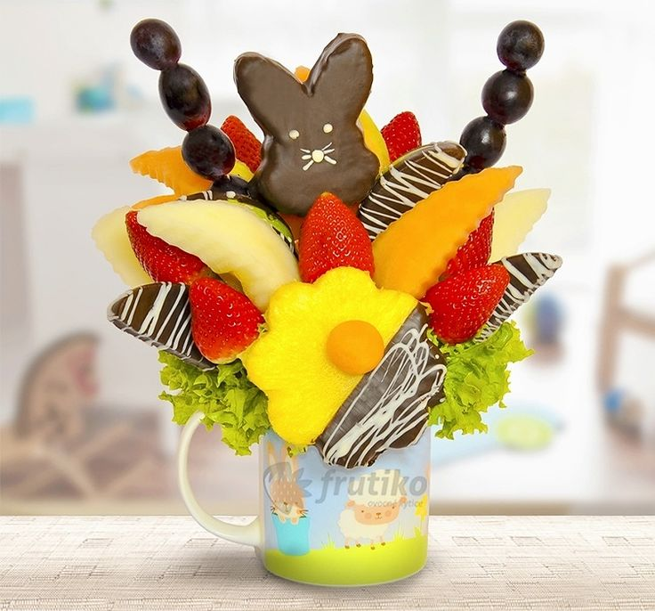 Eastern Bunny from fresh fruit in cup