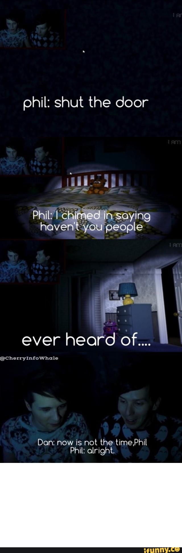 "I freaked out so so so much when this happened I was like ""OMG Phil just referenced P!ATD"""