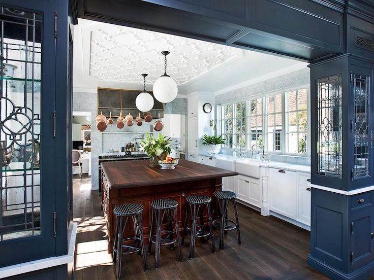 Les 25 meilleures id es de la cat gorie cuisines bleu fonc sur pinterest couleur bleu fonc - Cuisine grise et bleu ...