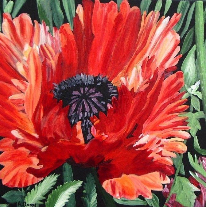 Christina's Poppy 3 by Anna Clarey