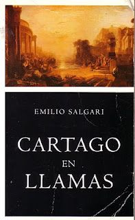 Un libro de un autor que haya nacido el mismo día que tú: Cartago en llamas de Emilio Salgari. Escrita por Salgari tres años antes de su muerte, la novela está ambientada en los tiempos de la Tercera Guerra Púnica, entre los años 149 y 146 a.c., cuando Roma, harta de su enemiga, decide destruir para siempre la ciudad de Cartago.