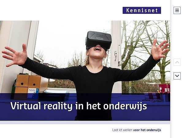 Brochure 'Virtual reality in het onderwijs' voor Mijn Kind Online
